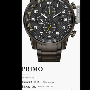 BRAND NEW Citizen Primo Stainless Steel  Solar